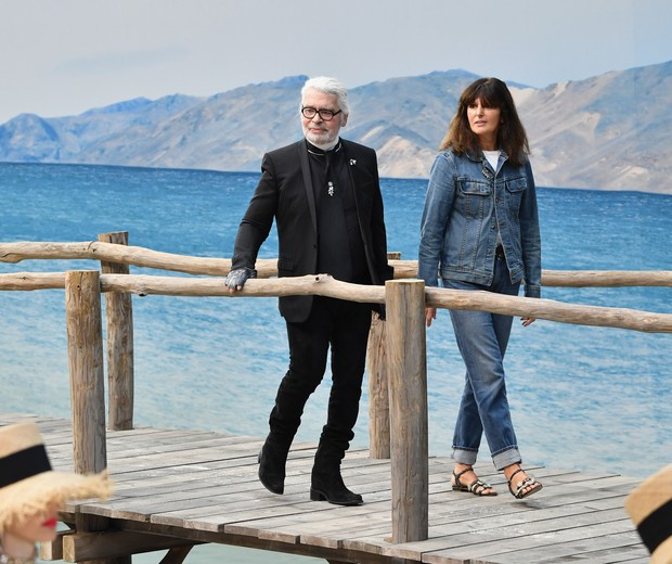 Virginie Viard e Karl Lagerfeld (Foto: Getty)