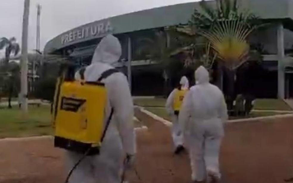 Prefeitura de Alto Horizonte passa por sanitização — Foto: Reprodução/Instagram