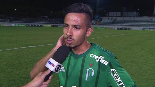 Alanzinho fala sobre a primeira vitória do Palmeiras na Copinha