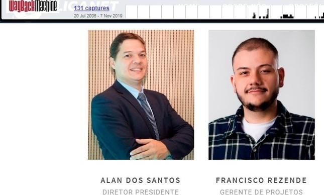 Francisco constava como funcionário no site da Aplicanet ao menos até setembro de 2019, ao lado de Alan, embora já tivesse à época registrado a Agência Virgula na Receita Federal