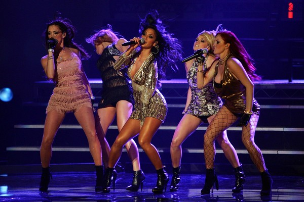 As cantoras do grupo The Pussycat Dolls em um show em 2006 (Foto: Getty Images)