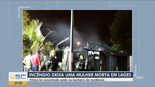 Mulher é encontrada morta em casa atingida por incêndio em Lages