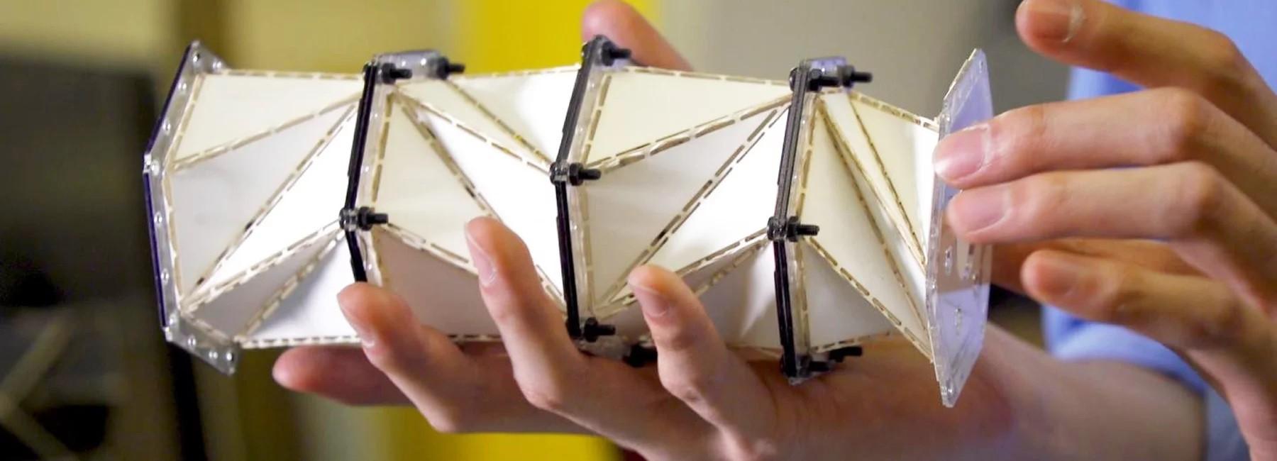 Pesquisadores criam material inspirado em origami capaz de amortecer super impactos (Foto: Divulgação)