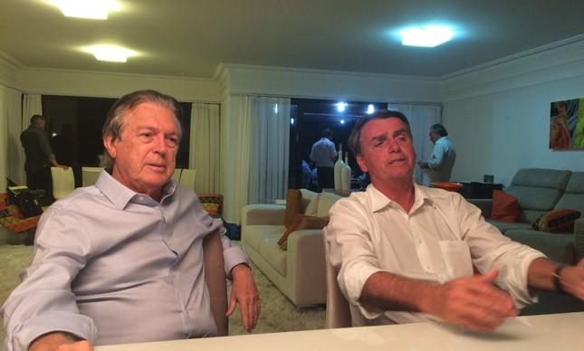O presidente do PSL, Luciano Bivar, e o presidente da República Jair Bolsonaro