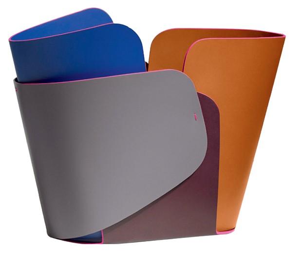 Cesto de couro feito pela designer em parceria com a Louis Vuitton (Foto: Ricardo Labougle/Arquivo Globo Condé Nast e Divulgação)