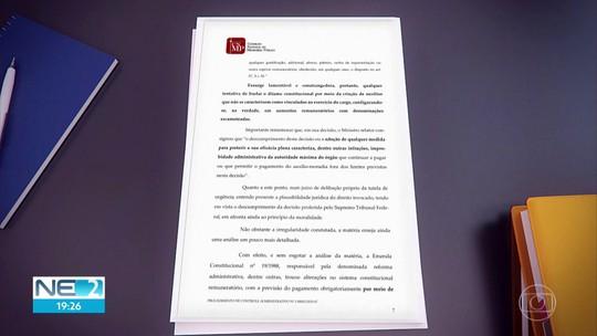 Auxílio-saúde suspenso para promotores e procuradores do MPPE traria gasto anual de R$ 2,6 milhões