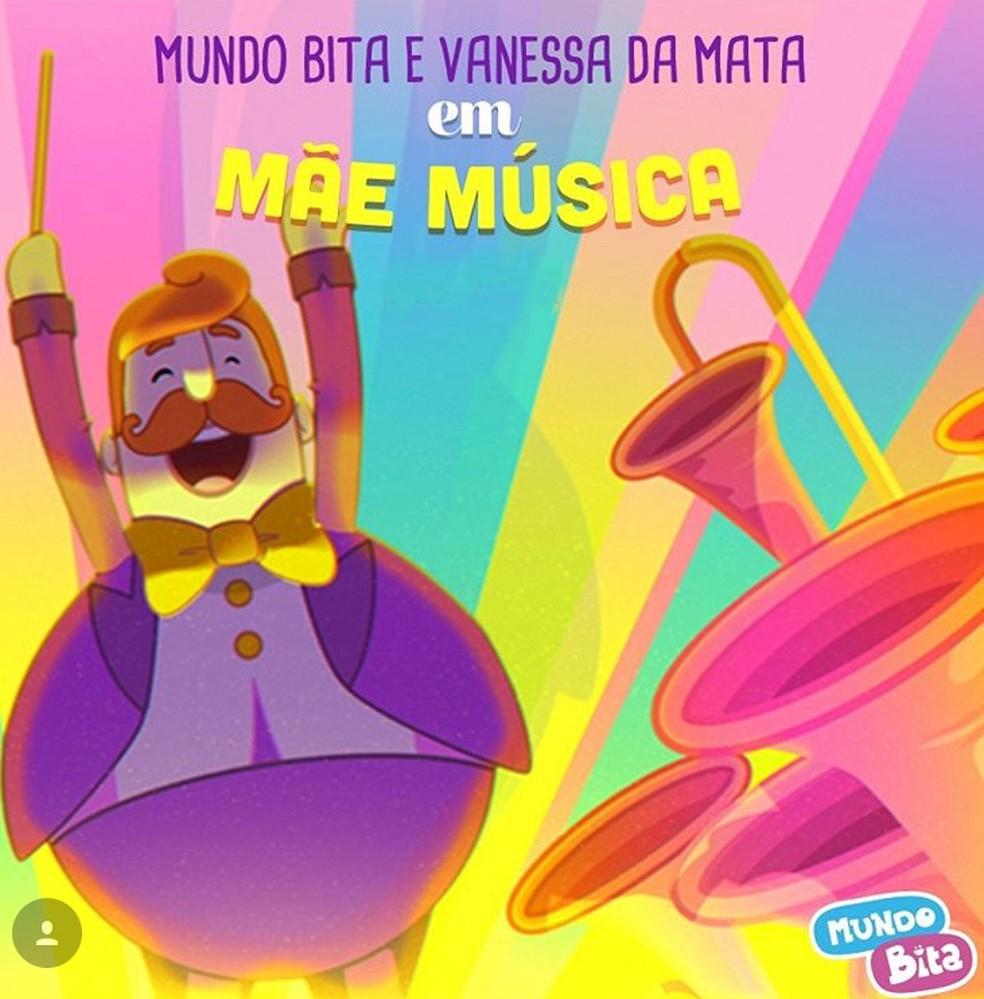 Capa do single 'Mãe música', de Mundo Bita com Vanessa da Mata (Foto: Divulgação)