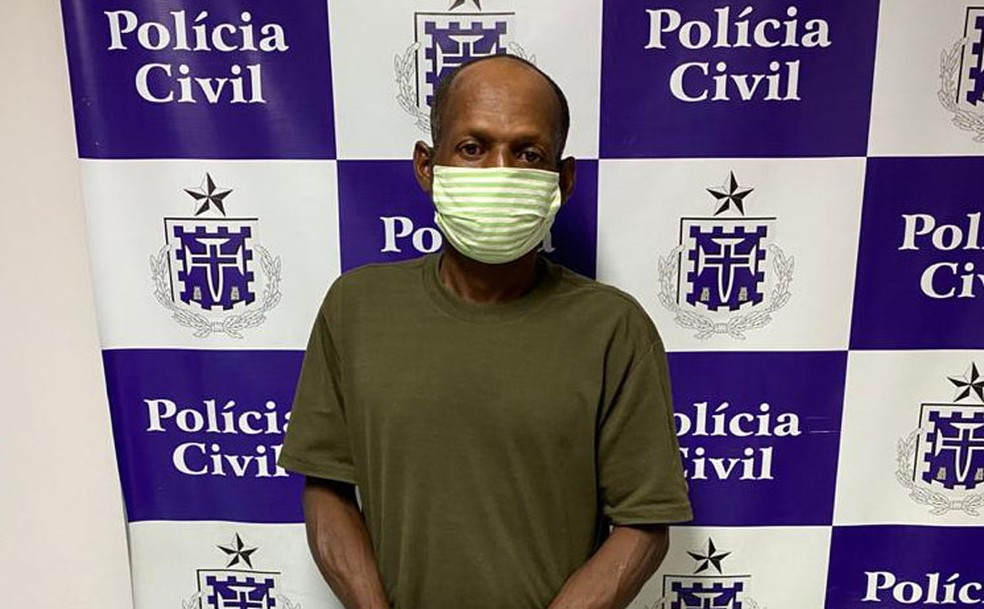 Homem é preso suspeito de matar companheira, Daiane Gonçalves Cruz, em Feira de Santana, na Bahia. — Foto: Divulgação/Delegacia