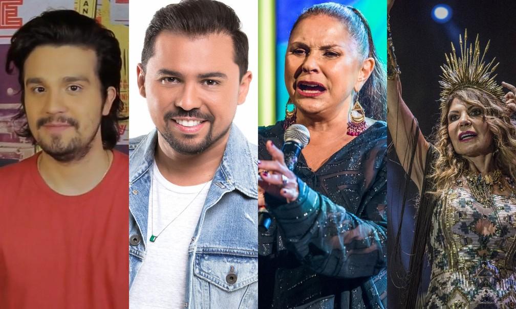 Luan Santana, Xand Avião, Fafá de Belém e Elba Ramalho fazem lives neste sábado (13)  — Foto: Divulgação