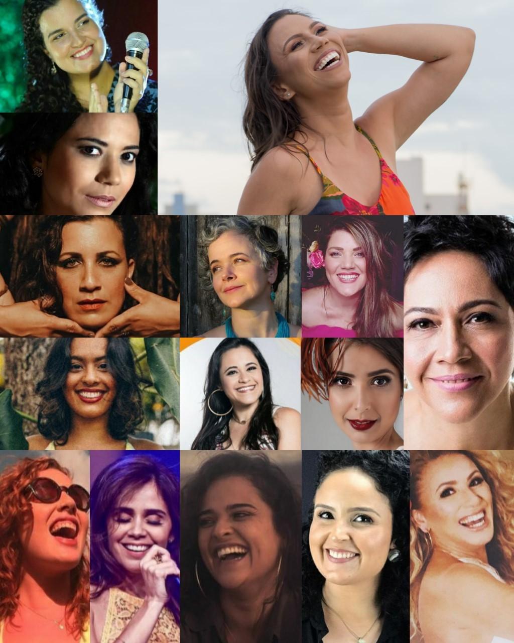 Quinze cantoras potiguares se reúnem em clipe 'Somos de lua'