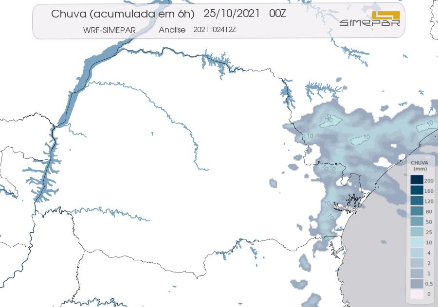 Paraná tem previsão de início de semana com tempo estável, diz Simepar; chuvas devem voltar na quarta-feira (27)