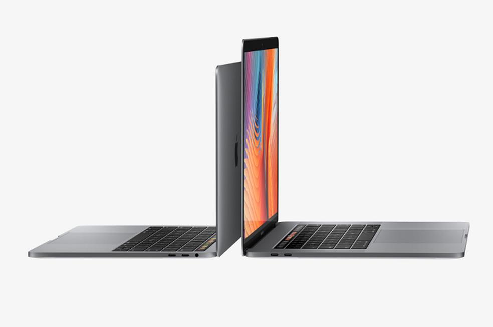 MacBook Pro de 13 ou 15 polegadas apostam em processadores de sétima geração e placas de vídeo melhores (Foto: Divulgação/Apple)