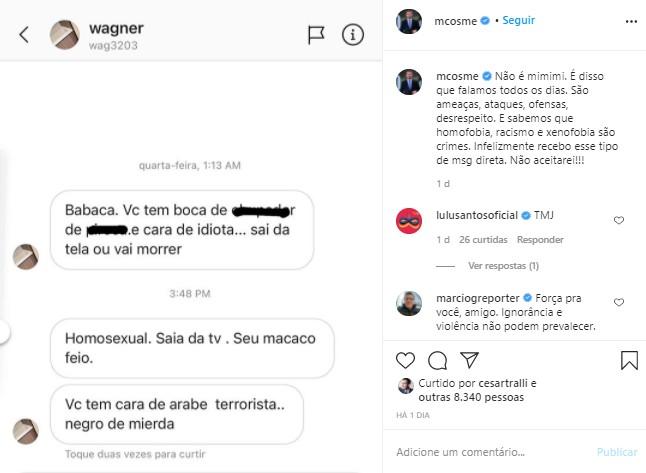 Marcelo Cosme, Globonews, Ataques