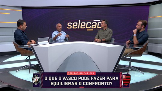 Comentaristas analisam o que o Vasco pode fazer para equilibrar o confronto