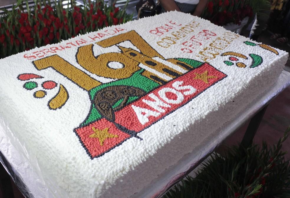 Bolo em comemoração aos 167 anos de Serra Talhada (Foto: Assessoria/Divulgação)