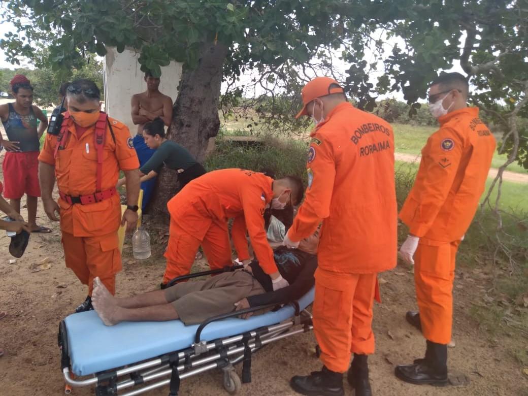 Idoso é resgatado próximo a rio após 2 dias desaparecido em RR
