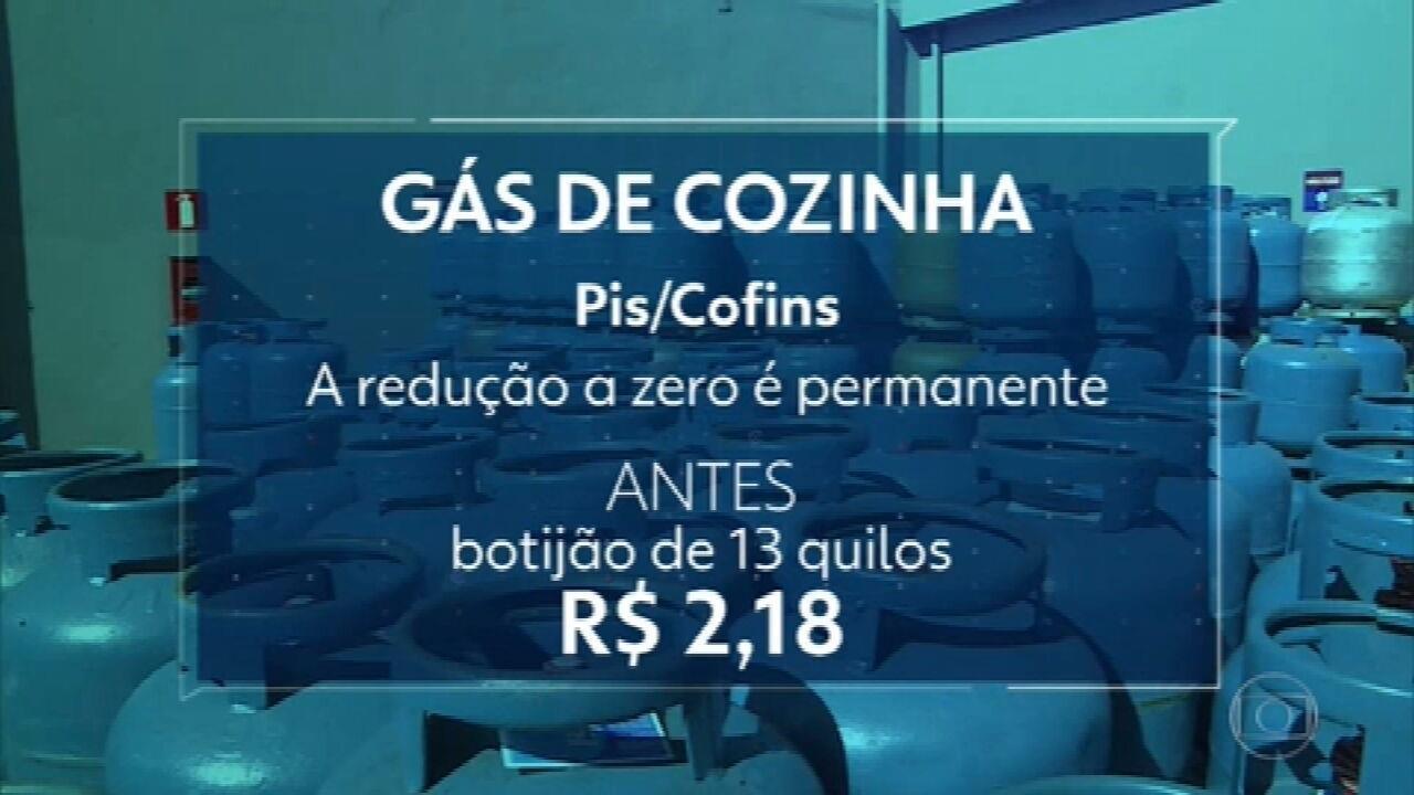 Bolsonaro assina decreto que zera impostos federais sobre o gás de cozinha e o diesel