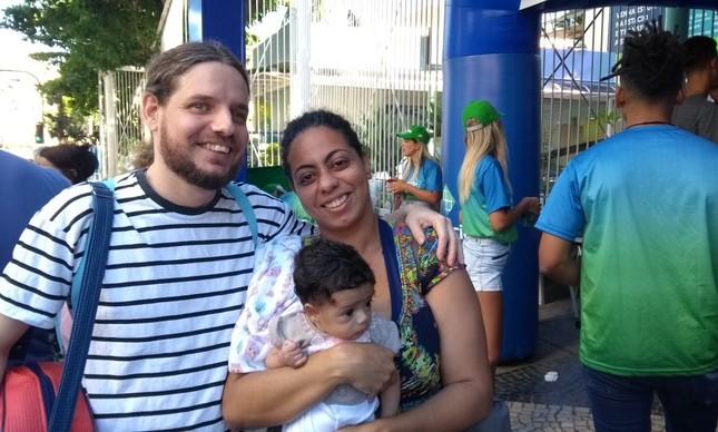 Ellane Souza fez a prova com a pequena Alice, de apenas dois meses