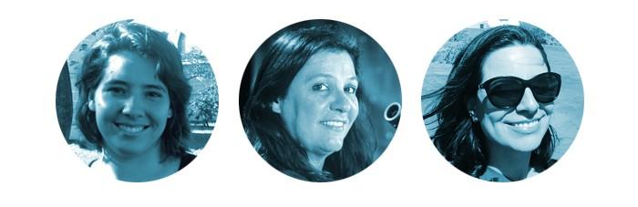 Mulheres das Estrelas (Foto: Ana Posses, Duília de Mello e Geisa ponte são astrônomas que querem mostrar ao Brasil a importância da ciência. Trabalham para atrair mais jovens — especialmente as meninas — para esse campo. (Fotos: arquivo pessoal))