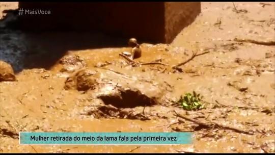 Resgatada em Brumadinho fala pela primeira vez no 'Mais Você'