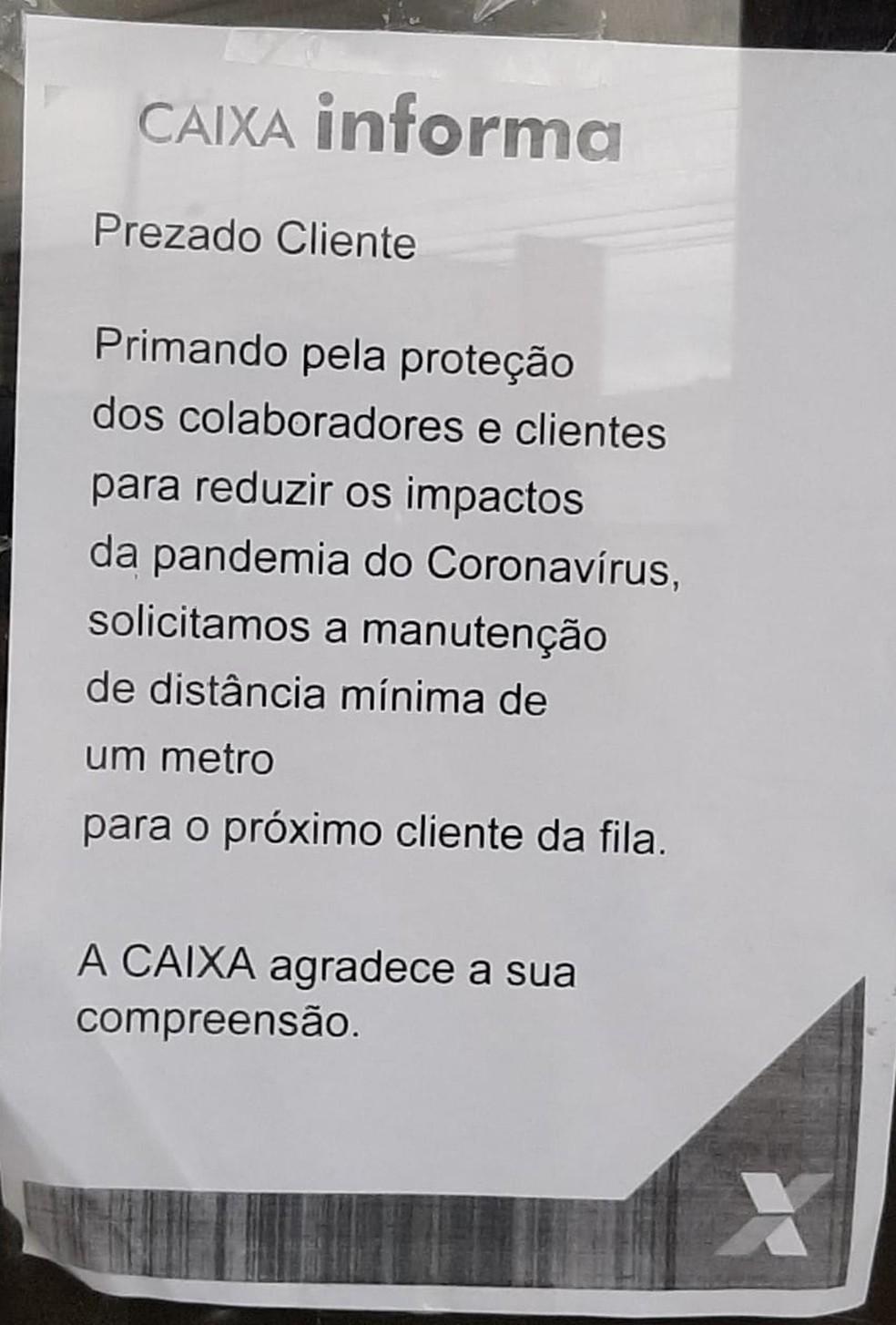 Casa lotérica em Porto Velho faz higienização das mãos de clientes antes de entrarem na loja — Foto: Divulgação
