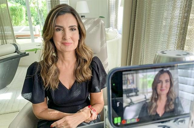 Fátima Bernardes no 'Conversa com Bial' (Foto: TV Globo)