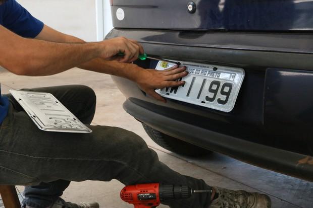 Placa de Carro (Foto: Divulgação Detran)