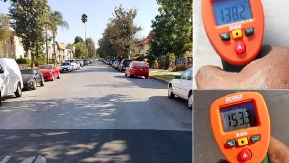 Especialistas supervisionam constantemente o efeito dessa nova cobertura e, no momento, confirmam que as temperaturas são inferiores nas ruas onde ela foi aplicada (Foto: Prefeitura de Los Angeles)