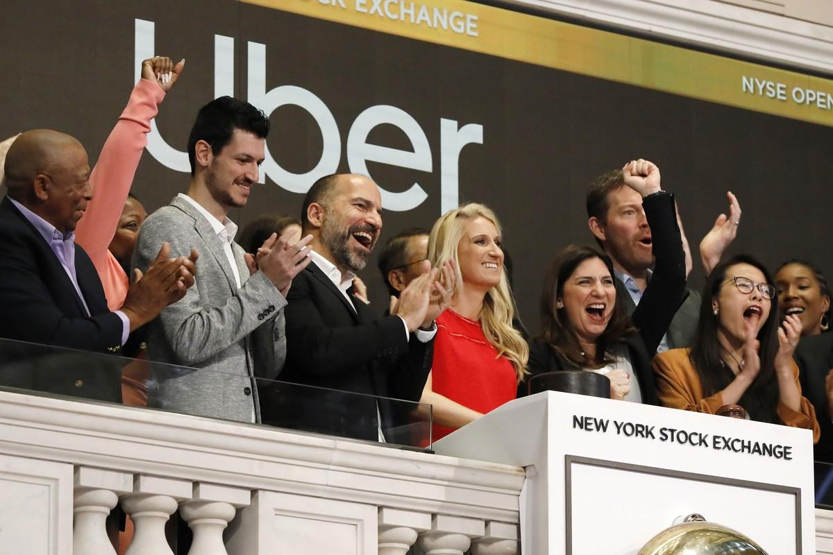 eb9b9de8b Uber estreia na bolsa de NY e ação despenca 7,62%   Tecnologia   G1