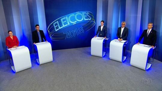 Candidatos ao governo de Goiás participam de debate na TV Anhanguera