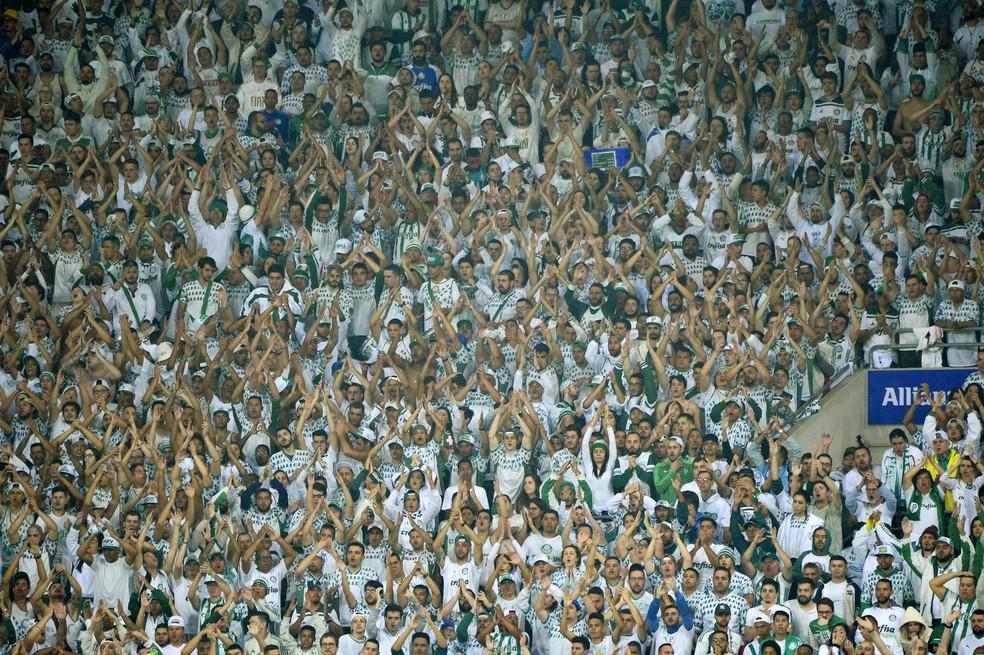 Torcida do Palmeiras tem maior concentração entre as pessoas de 25 a 34 anos — Foto: Marcos Ribolli