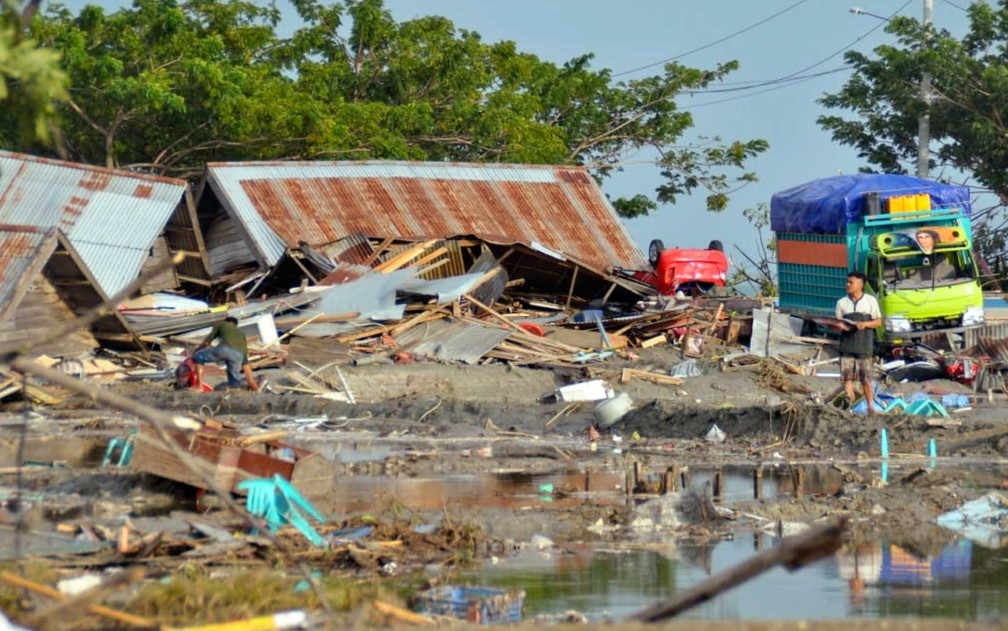 Destruição em Palu, região central de Sulawesi — Foto: AP Photo