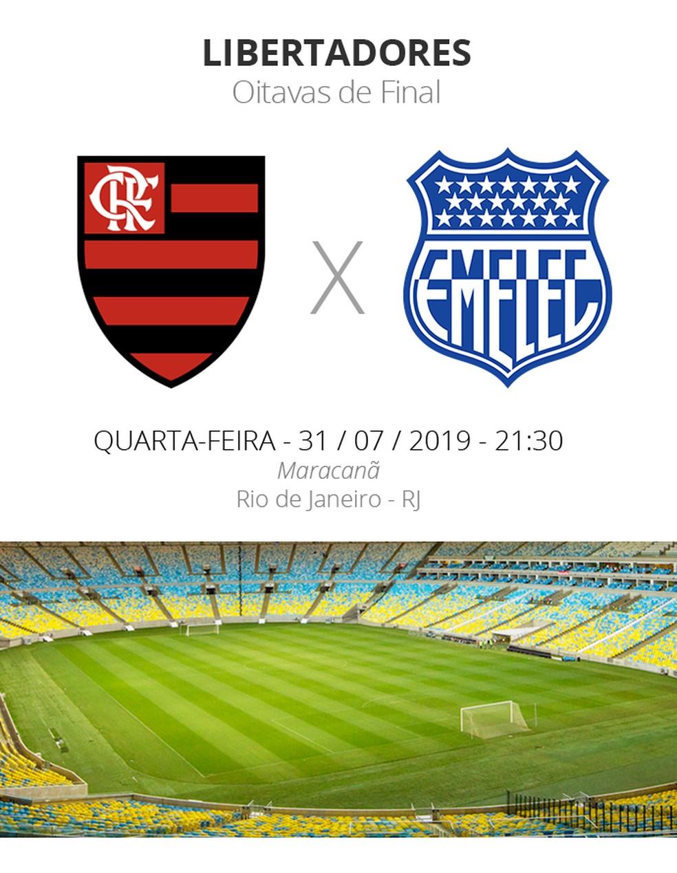 Ficha Flamengo x Emelec — Foto: Info / GloboEsporte.com