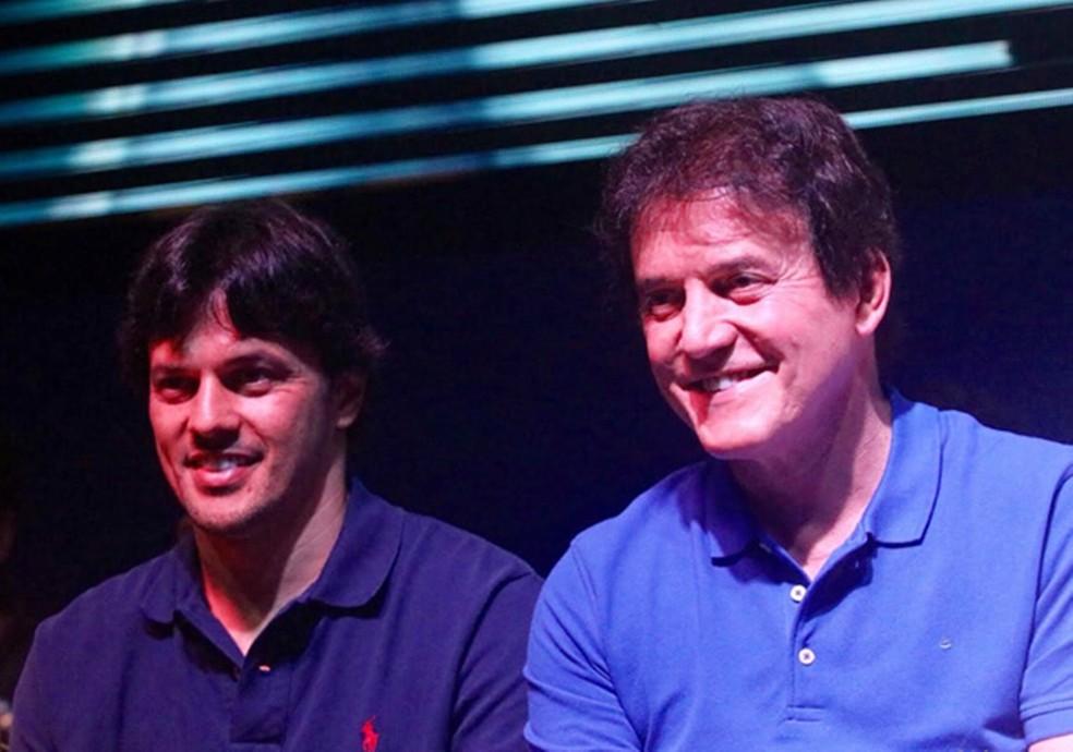 O deputado Fábio Faria e pai dele, o ex-governador Robinson Faria — Foto: Canindé Soares