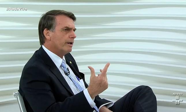 Bolsonaro no Roda Viva