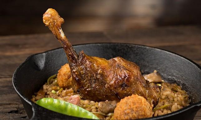O arroz de pato com coxa confit