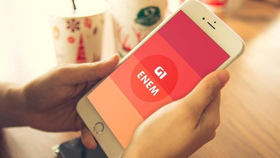 App G1 Enem tem jogo de perguntas para os candidatos treinarem para o exame (Foto: G1 )