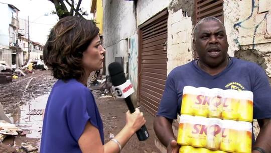 Morador de São Caetano lamenta as enchentes na cidade