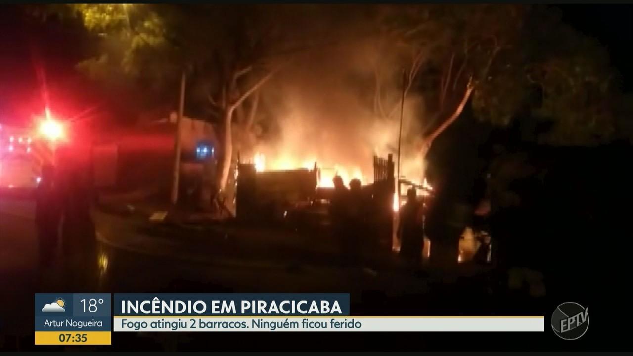 Incêndio atinge comunidade no Bairro Paulista em Piracicaba; não há feridos