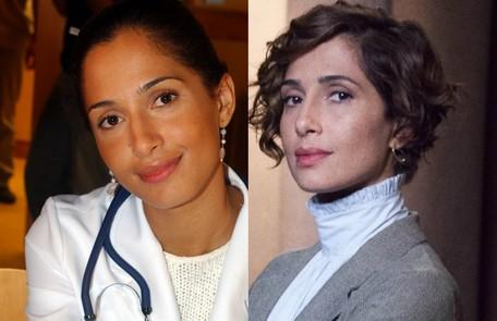 Camila Pitanga interpretou Luciana, médica residente que viveu uma paixão proibida com o primo, Diogo (Rodrigo Santoro). A atriz está no elenco da série 'Aruanas' TV Globo