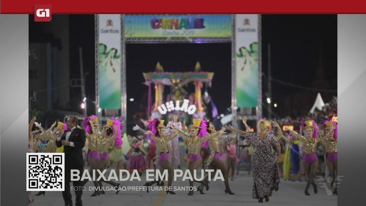 G1 em 1 Minuto - Santos: Carnavalescos em crise e a chance de não haver festa em 2022