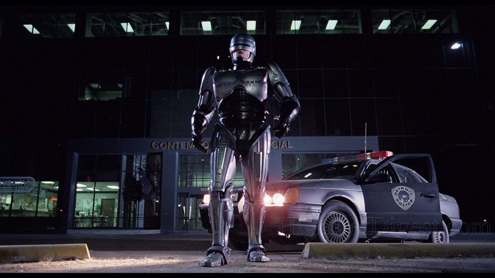 -  Peter Weller em cena de   39;RoboCop: O policial do futuro  39;  Foto: Divulgação