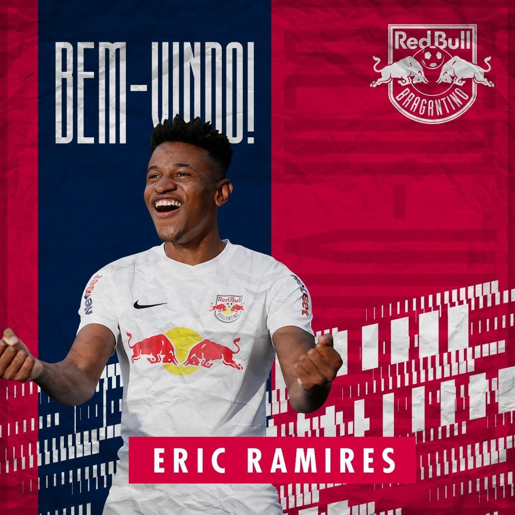 Eric Ramires é anunciado pelo Bragantino — Foto: Divulgação/Red Bull Bragantino