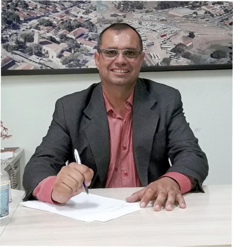 Prefeito de Anhembi, Lindeval Augusto Mota (PP), foi internado com Covid-19  — Foto: Prefeitura de Anhembi/ Divulgação