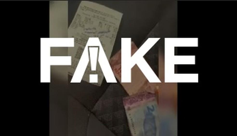 É #FAKE vídeo em que homem diz ter recebido devolução de impostos federais após abastecer etanol — Foto: Reprodução