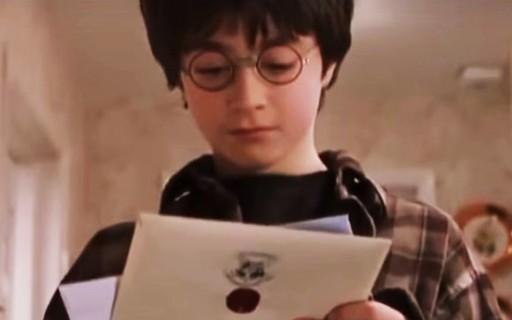 Carta que Harry Potter recebeu ao ser aceito em Hogwarts vai a ...