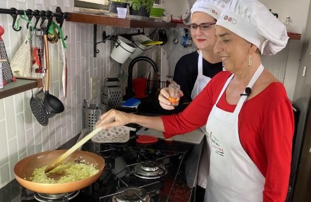 A chef  Rossella Speranza: quatro aulas de pratos típicos italianos