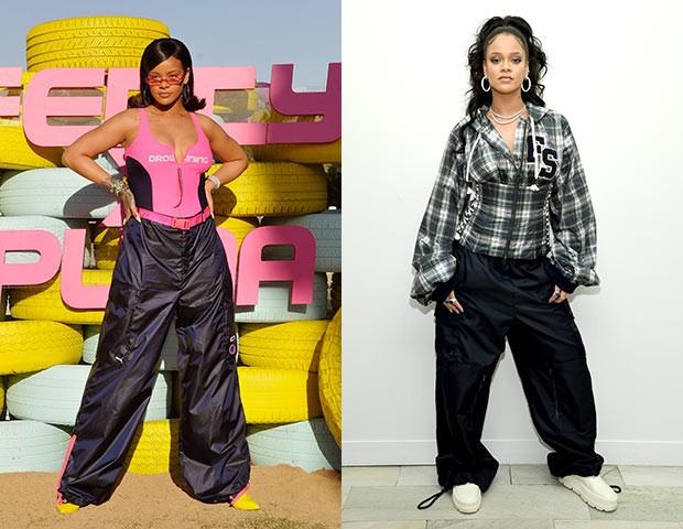 As roupas confortáveis são um destaque nos looks de Rihanna (Foto: Getty Images)