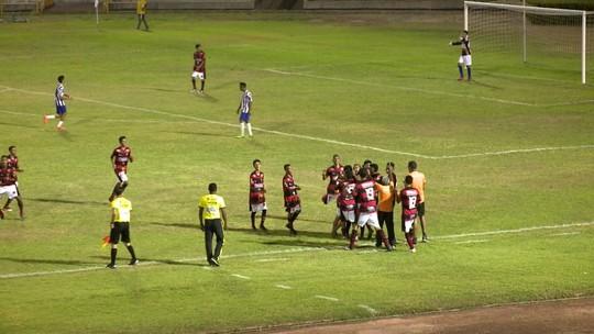 Sub-17: em jogo de duas viradas, Flamengo-PI marca aos 38, elimina Dirceu e se recupera no Piauiense