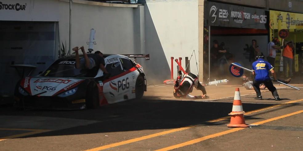 Acidente na Stock Car em MS deixa 3 feridos (Foto: Glauco Guerin/Arquivo Pessoal)